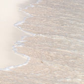 Sea waves with foam — Stock Photo