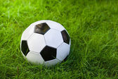 Soccer ball on grass — Fotografia Stock