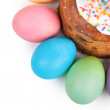 Easter cake and painted eggs — Stock Photo #71777115