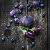 Purple color in vegetables — Stock Photo
