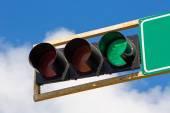 Green traffic light — Stock Photo