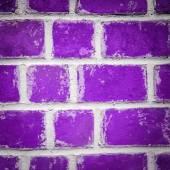 Purple brick wall background — 图库照片