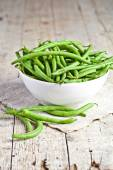 Green string beans in a bowl  — Stockfoto