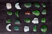 Sea glass bottlenecks  — Fotografia Stock