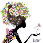 Zodiac sign cancer. — Stock Vector