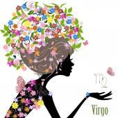 Zodiac sign virgo. — Stock Vector