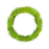 Wreath of pine twig — Stockvektor