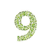 Eco number 9 — Stock Vector