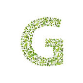 Eco litera G — Wektor stockowy