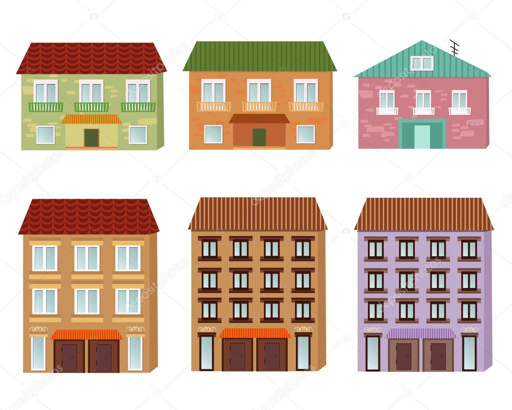 Edificios de dibujos animados — Archivo Imágenes ...