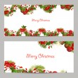 Christmas set invitation cards — Vector de stock  #57570285