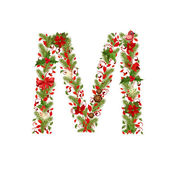 Christmas  tree letter M — Stock Vector
