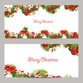Christmas set invitation cards — Vettoriale Stock