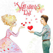 Valentine's day greeting card — Cтоковый вектор