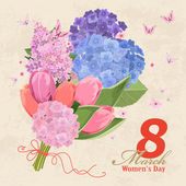 Women's day of 8 march — 图库矢量图片