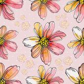 Watercolor floral  texture — Fotografia Stock