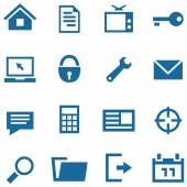 Icons set for web and mobile apps. — Stock Vector