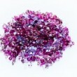Jewel stones heap in violet tones spinning over white background — Stock Video #65547283