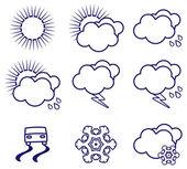 Conjunto de iconos meteorológicos — Vector de stock