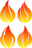 4 vector fires — Wektor stockowy
