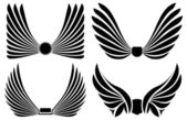 Four pairs of wings — Stock Vector