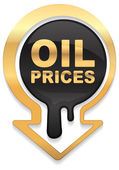 Oil prices golden design — Stock Vector