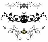 VIP decors with floral elements — Stock Vector