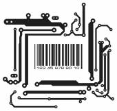 Bar code in PCB-layout style — Stock Vector