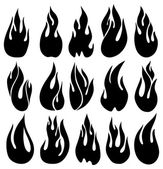 Black fires — Stock Vector