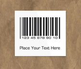 Barcode label on packing paper — ストックベクタ