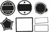 Grunge rubber stamps templates — Stock Vector
