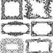 Set of 6 massive vector frames — Vector de stock  #65067781