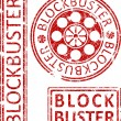 ������, ������: Blockbuster ruber stamps