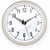 Office clock on white — Stock Vector