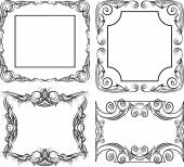 Set of 4 massive frames — Stock Vector