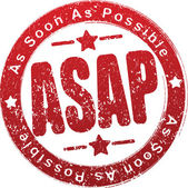 ASAP Rubber stamp. — Stock Vector