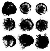 Set of nine grunge elements — Vettoriale Stock