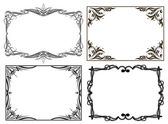 Set of 6 decorative frames — Stock Vector