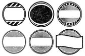 Set of grunge rubber stamps templates — Vector de stock