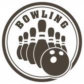 Bowling rubber stamp design — Vecteur