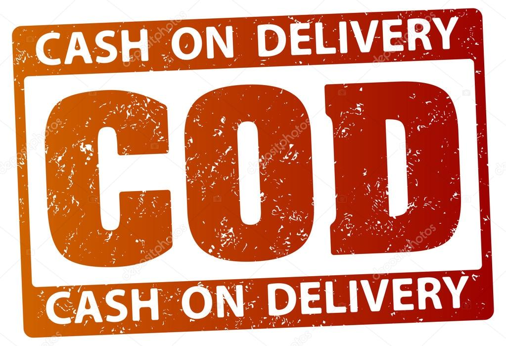 COD (cash on delivery) rubber stamp — Stock Vector ...