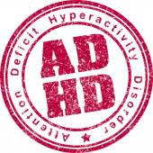 ADHD rubber stamp. — Stock Vector