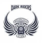 Dark riders motorcycle club — Stock Vector