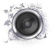 Abstraktní hudební zvuk reproduktoru — Stock vektor