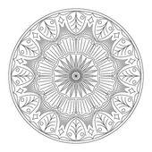 Round lace design - mandala, — Stockvektor