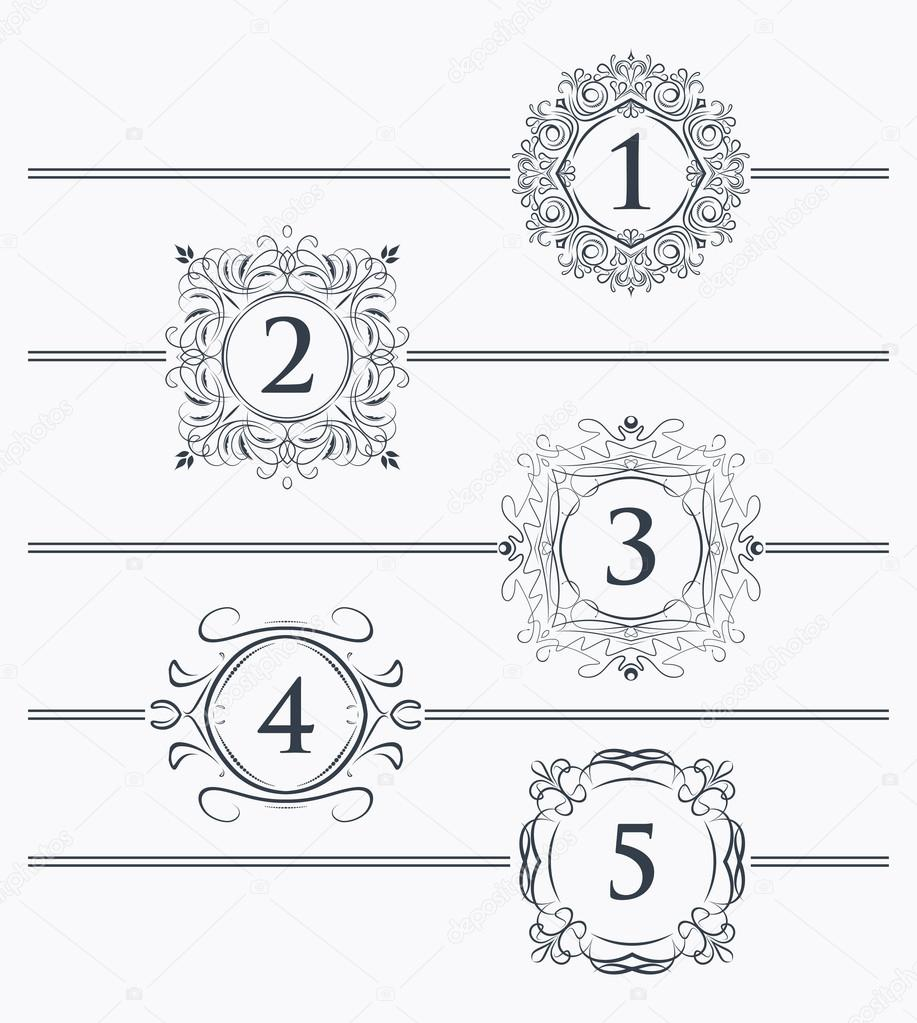 Elementos decorativos de dise o vector de stock for Decoracion de paginas