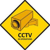 Videoövervakning tecken. — Stockvektor