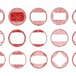 Set of  round, grunge stamps — Stock Vector #72234661