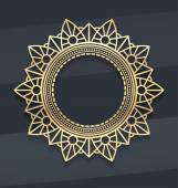 Gold lace decorative mandala — Stock Vector