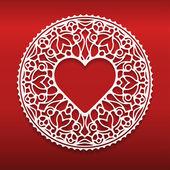 Round ornamental geometric doily pattern — Stock Vector